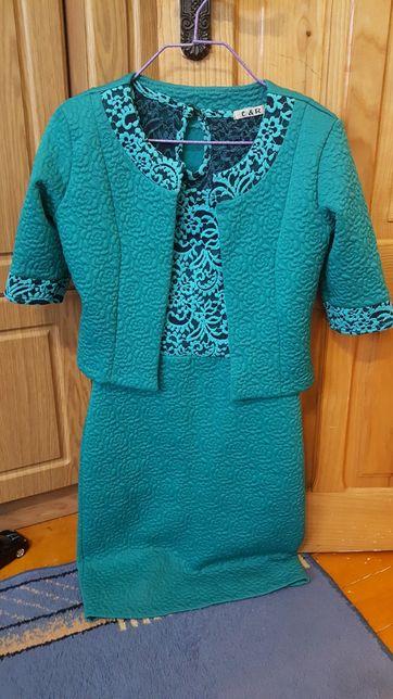 Бірюзове плаття, бирюзовое платье.