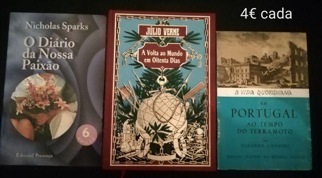 Livros antigos,Nicolas Sparks, Fialho Almeida, Júlio Verne