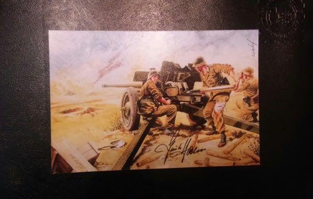 Africa Corps autograf Gunter Halm
