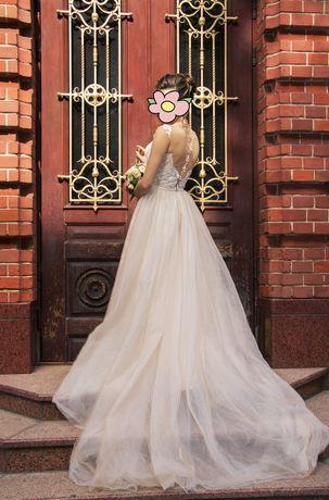 Нежное свадебное платье, размер 42