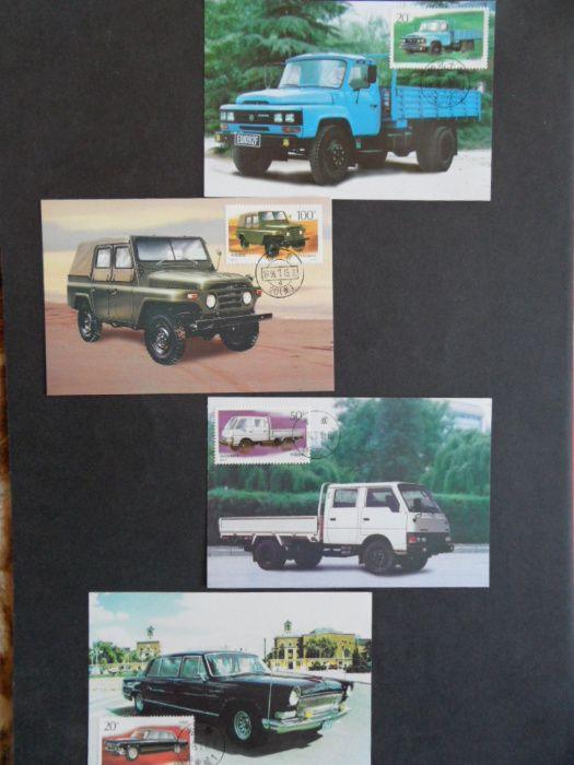 chiny chinskie znaczki pocztowe kartka pocztowa motoryzacja samochody Stalowa Wola - image 1