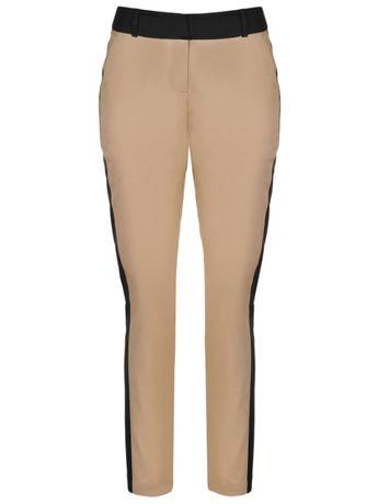 Spodnie długie damskie obcisłe eleganckie 38 M Beżowe