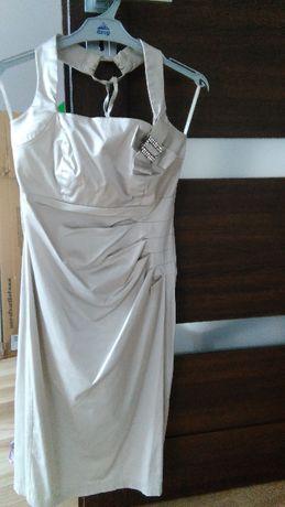 Sukienka damska, szampańska, r. 36