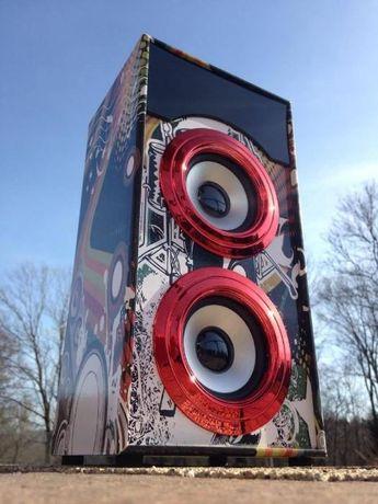 Radio Glosnik Odtwarzacz MP3 Bluetooth budowlane Mini Wieza boombox