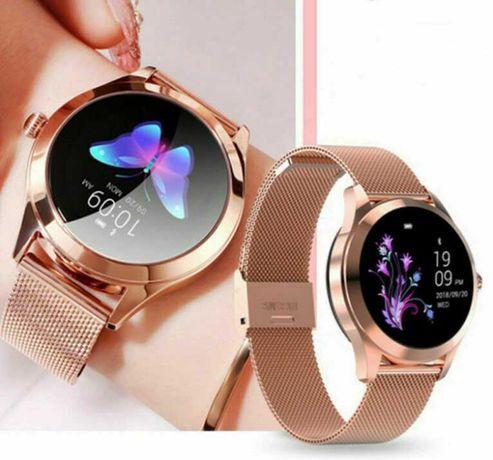 Роскошные женские умные часы фитнес браслет KW10