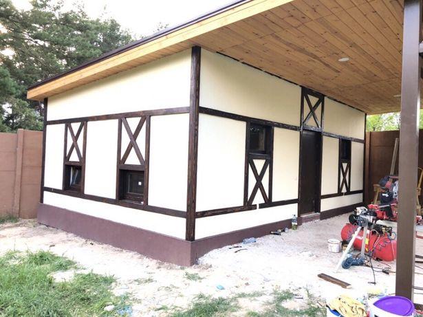 Каркасное строительство домов,хоз-построек, кровля, фасады, террасы