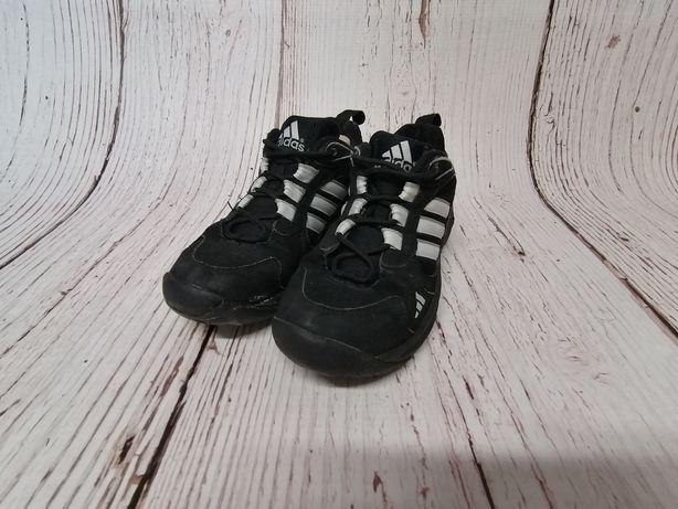 Buty damskie sportowe czarne białe Adidas r. 36 2/3 wkładka 22,5cm