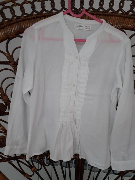 Koszula biała Zara Girls 7/8 lat 128 cm