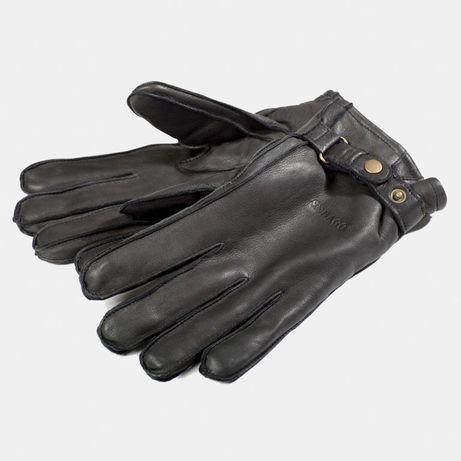 Тёплые кожаные перчатки Sebago Finland