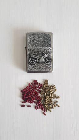 Zippo nowa zapalniczka benzynowa z emblematem motocykla + GRATISY
