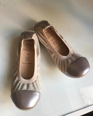 Новые кожаные туфли балетки Geox