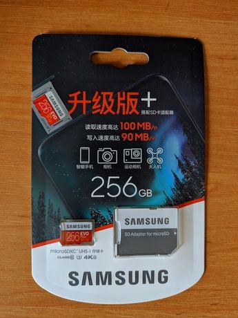 Micro SD Samsung Evo+ 256GB (4k video)