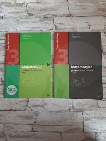 Matematyka 3 liceum CE zakres podstawowy -podręcznik i zbiór zadań