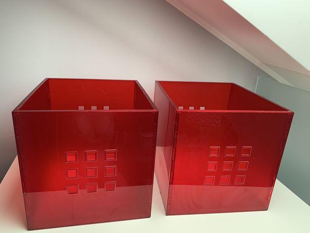 Pudełko Lekman do kallax rozmiar 33x37x33 cm. 2 sztuki Kolor czerwony
