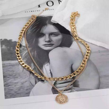 Женское многослойное ожерелье-чокер