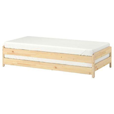 2 łóżka + 2 materace IKEA