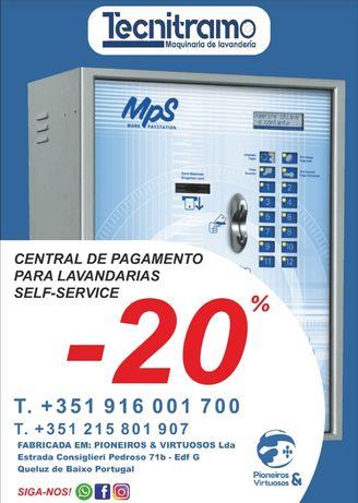 Central de pagamento para lavandaria self service