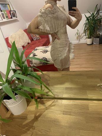 Sukienka Asos frędzle sylwester studniówka wesele