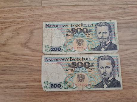 200 złotych Dąbrowski 1 grudnia 1988 r.