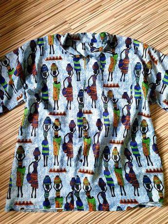 Piękna koszula letnia w afrykański wzór