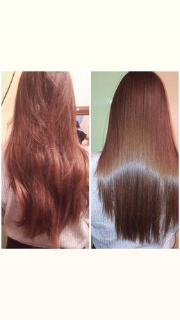 Кератиновое выравнивание и восстановление волос.Ботокс.