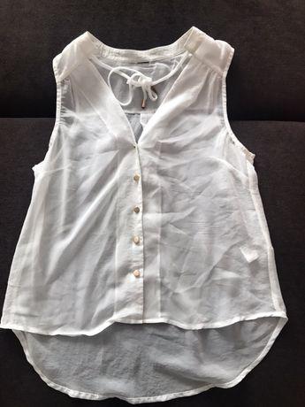 Biała bluzka sznureczki na lato