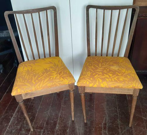 Retro Vintage Antigo 2 Cadeiras Madeira p Restauro