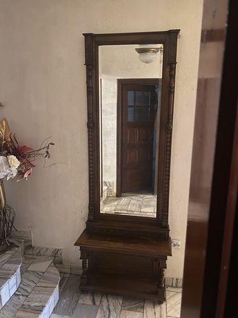 Szafa z lustrem kryształowym antyk drewno toaletka 233x87