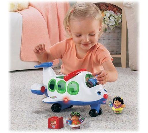 Wesoły samolot Little People - Fisher Price Wspaniała zabawka dla ma