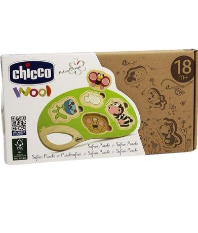 NOWE, Chicco, Safari, drewniane puzzle