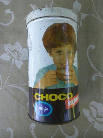 Stara puszka metalowa po kakao Choco Hanka retro dla kolekcjonera
