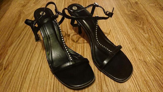 Sandały szpilki czarne roz 38