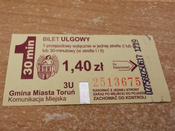 Bilet komunikacyjny MZK Toruń