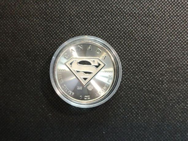 Moneta srebrna  - Tarcza Supermana, IDEALNA NA PREZENT