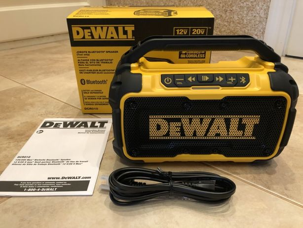 Dewalt DCR010 12V/20V MAX Bluetooth колонка ( speaker ) з США ОРИГІНАЛ