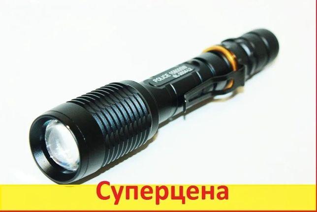Фонарик Подствольный мощный тактический Police BL-2804 158000W фонарь