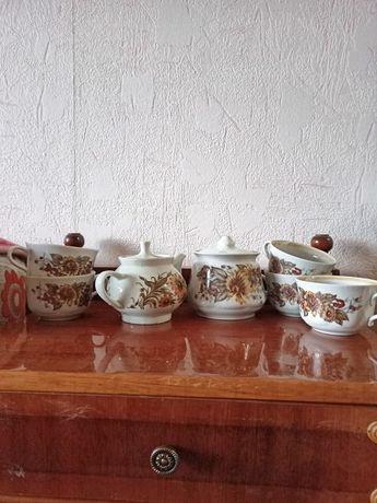 Фарфоровый кухонный сервиз, набор из 7 предметов