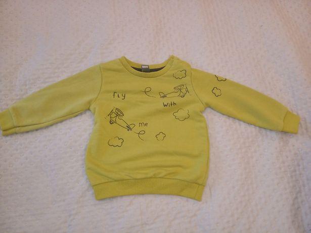 Bluza chłopięca żółta waikiki rozm 74/ 80