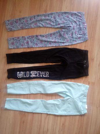 Spodnie getry dresy i jeginsy 140/146 komplet