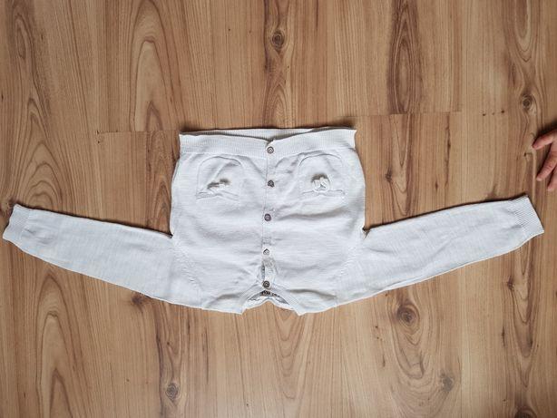 2 sweterki next i lupilu r.86 białe