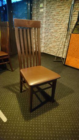 Krzesło drewniane wyściełane