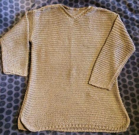 Sweterek duże oczka polecam