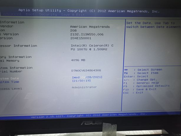 Motherboard X550 Celeron REV. 2.0