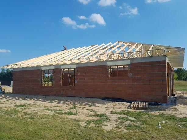 Produkcja i montaż konstrukcji dachowych cała Polska wiązary dachowe