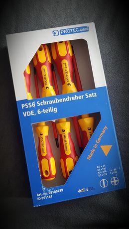 Zestaw 6 izolowanych wkrętaków do 1000V Made in GERMANY Protec.class