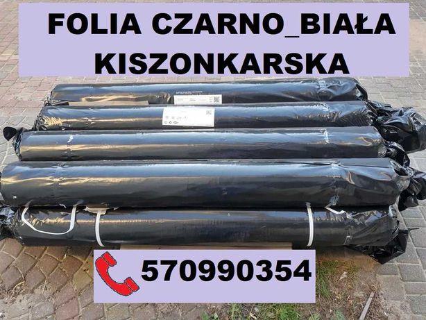 FOLIA KISZONKARSKA czarno-biała 12x33m FOLIE na pryzmę, silos