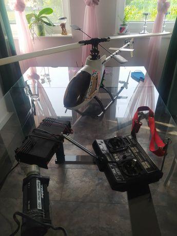 Helikopter zdalnie sterowany spalinowy duży cały komplet