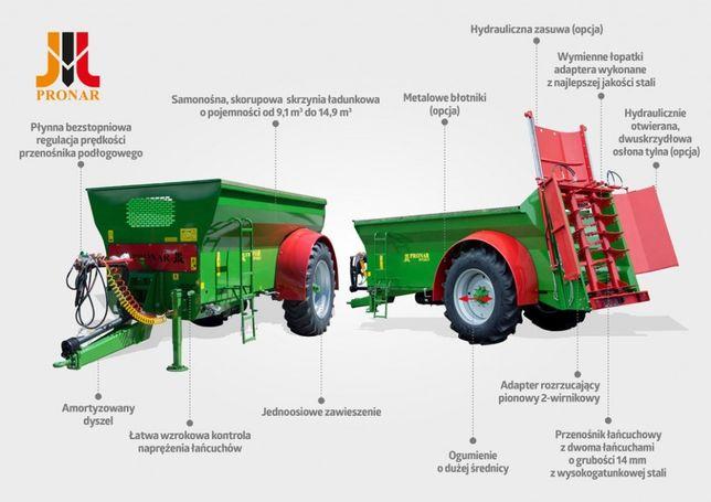 Rozrzutnik Obornika Wapna Pronar NV161/2 8 - 9 - 10 ton SKORUPOWY