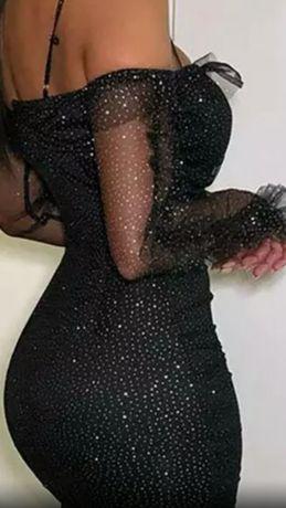 Sukienka Lou Louboutin Louis Vuitton svarowski 38 40 m L