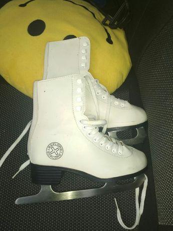 Коньки ледовые фигурные белые